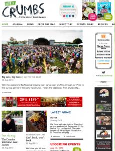 Crumbs homepage