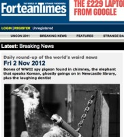 Fortean Times / carrier pigeon story