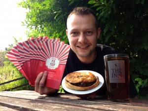 Pie lover and new landlord of the Inn at Freshford Mike Parkin launches Bath's first pie and ale festival