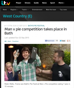 Avalanche PR launched Bath's first pie festival for the Inn at Freshford, attracting high profile media attention