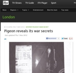 ITV London / pigeon secret story