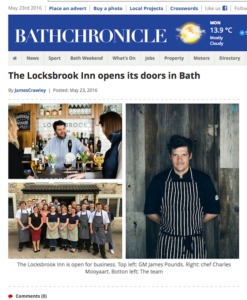 Bath Chronicle online - launch coverage