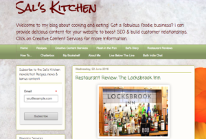 Blogger Sal's Kitchen pub review
