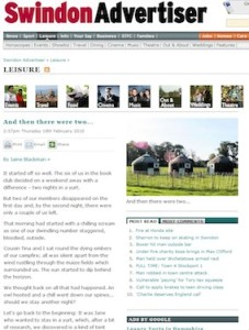 Swindon Advertiser yurt review