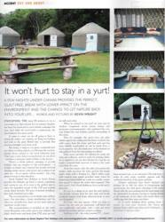 yurt review in Accent magazine