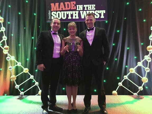 Precision Dippings Manufacturing Innovation award win at Made in South West