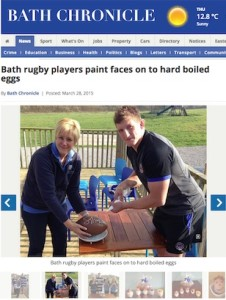 Farleigh Road Farm Shop's Easter rugby fundraising story, in the Bath Chronicle