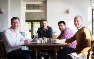 The Bath Pub Company team has announced plans for its fourth opening in the city. From left to right: Joe Cussens, director; Justin Sleath, director; James Pounds, general manager; Darren Hales, operations manager