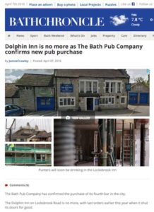Bath Chronicle online, April 2016