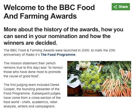 BBC Food & Farming Awards 2015