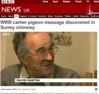 BBC News online / WWII carrier pigeon story
