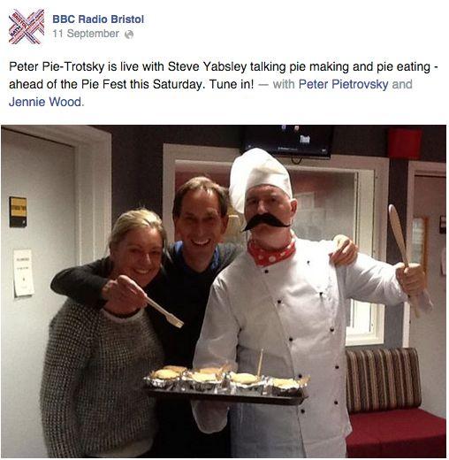 BBC Radio Bristol Pie Fest PR