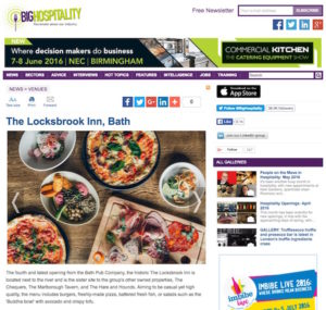 Big Hospitality coverage, June 2016