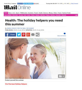 Bloccs media coverage in the Daily Mail's health pages
