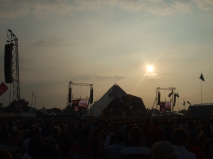 Pyramid Stage sundown