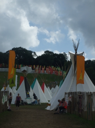 Decadence is a Glastonbury tipi