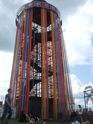 Always colourful: The Park at Glastonbury