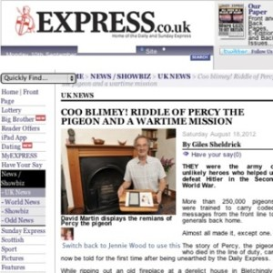 Express online / wartime pigeon story