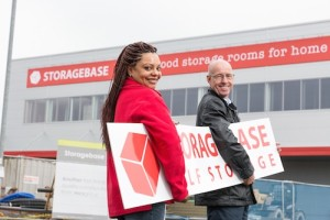 Naomi Oliver, the new Frome Storagebase manager with assistant manager Andy Dunne-Howells and one of the company's new removal vans. Storagebase will open on Saturday 28 November 2015