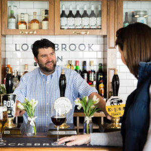The bar at the Locksbrook Inn, Bath