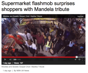 Flashmob tribute to Mandela