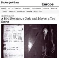New York Times / pigeon skeleton story