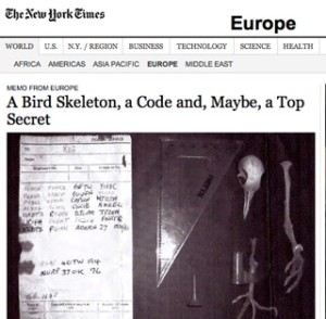 New York Times / pigeon skeleton story