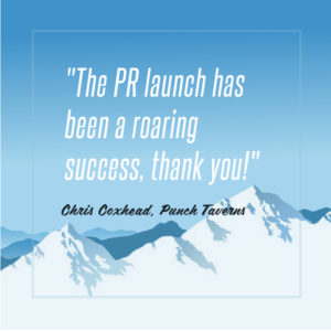 PR launch praise from Punch Taverns
