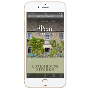 New website for the Pear Tree Inn, Wiltshire