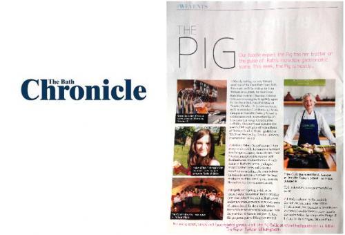 Bath Chronicle coverage for the Pear Tree Inn