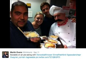Pie Fest PR at BBC Radio Bristol