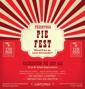 The Inn at Freshford will play host to Freshford Pie Fest next weekend - an event celebrating great British food and introducing Bath's first Pie Factor and Man Vs Pie contest.