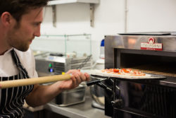 Homemade, hand-tossed pizzetta