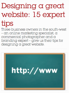 15 pointers on creating a great website - build, design and photography