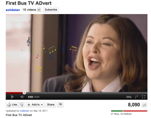Singing First Bus driver
