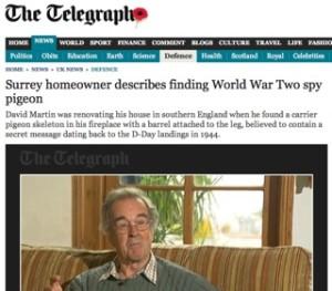 Telegraph film / pigeon story