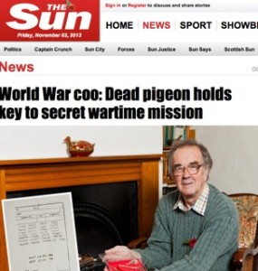 The Sun / World War pigeon story